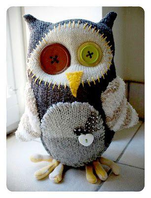RAWR Sock creatures - love the owl!
