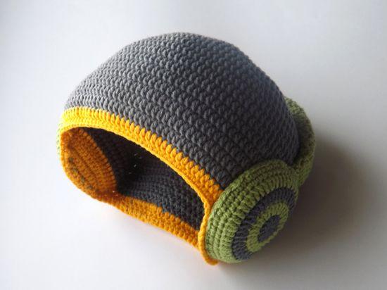 Dj hat Boy hat. Baby boy hat. Gray green and by EdithCrochet, $27.00