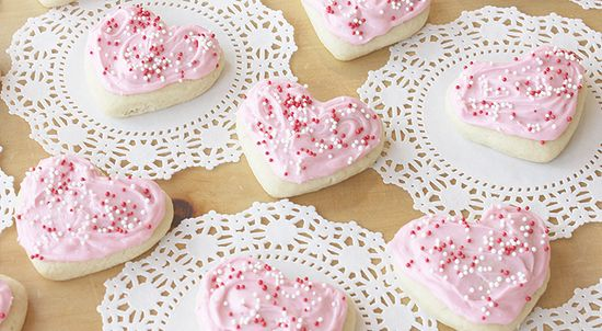 Valentine's Day Sour Cream Cookies