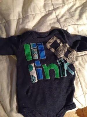 DIY-Applique baby clothes