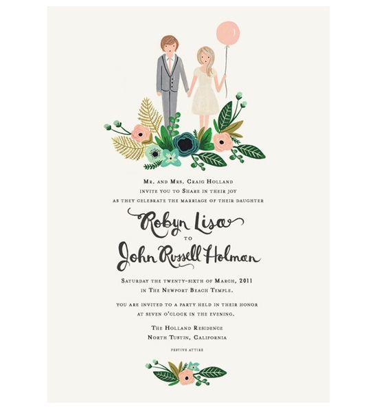 quirky wedding invitation