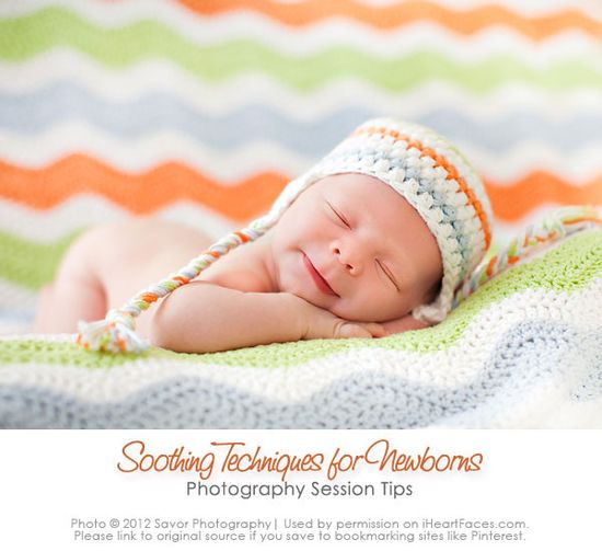 6 Top Soothing Techniques for Newborn & Baby Photography {via Rachel Durik & iHeartFaces.com}