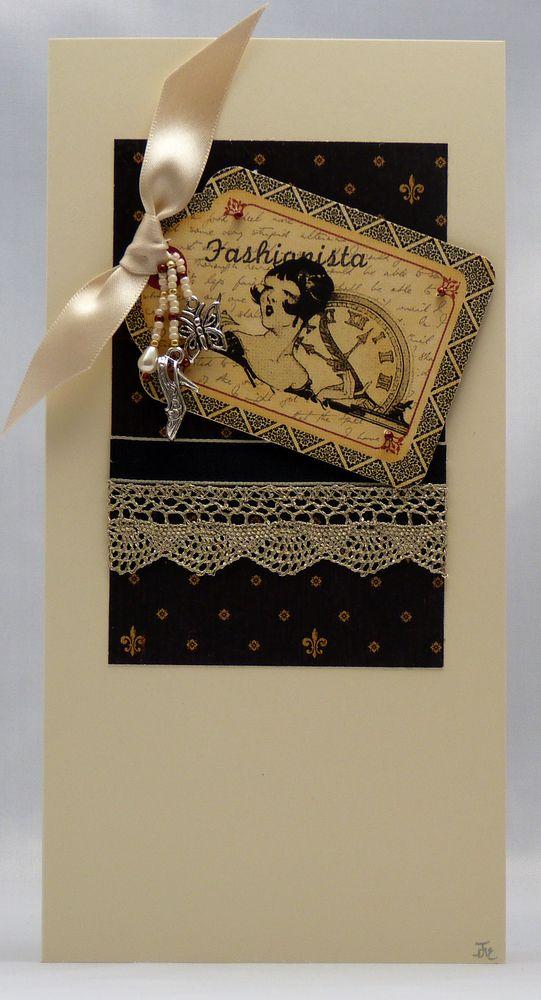 Handmade Card - Fashionista £3.00