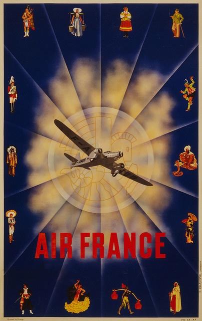 Air France Flight Poster