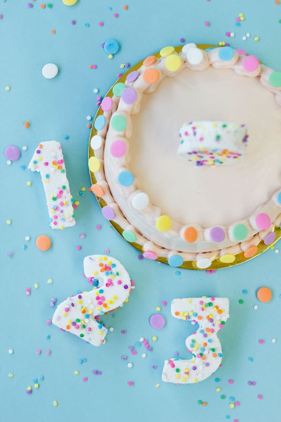 DIY Confetti Marshmallow Numbers (+ a giveaway!)
