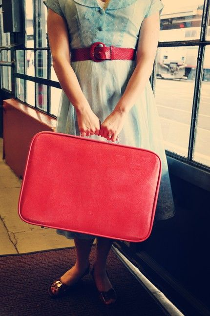 little red suitcase