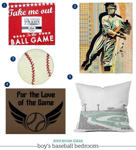 baseball bedroom