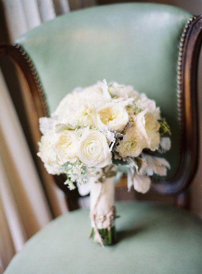 ivory ranunculus and garden rose bouquet
