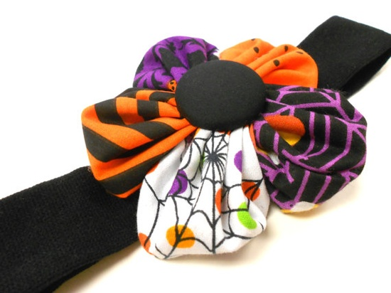 WEDNESDAY Halloween Cloth Headband by CuteAsAButtonBlossom on Etsy, $18.50