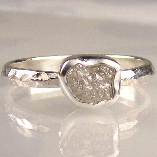 uncut diamond ring.