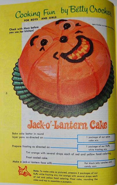 Halloween Jack-o-Lantern cake