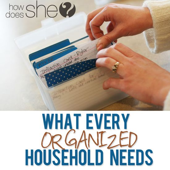 What every organized household needs! She has some of the best tips I've heard in a long time! #organization #family #planning