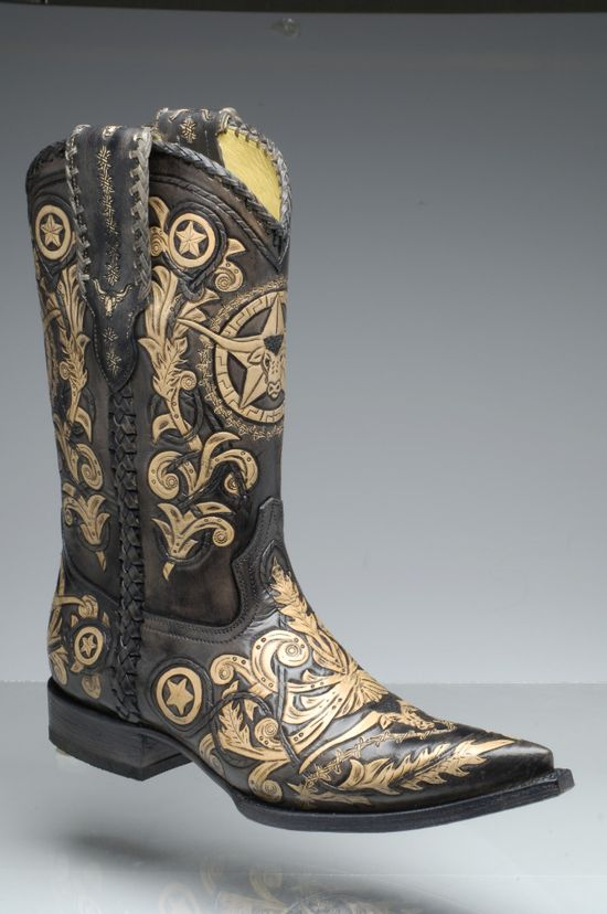 Stivale Western Hand Made Tooled