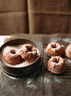 Cinnamon sugar-coated maple apple mini-bundt cakes