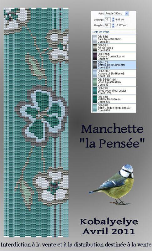 Pattern Bijoux: Griglie Pensée