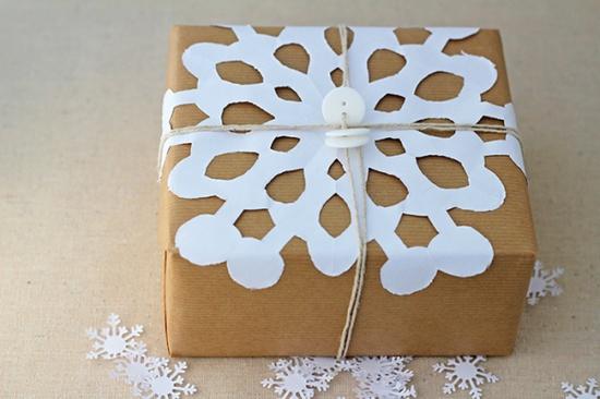 snowflake Christmas wrap