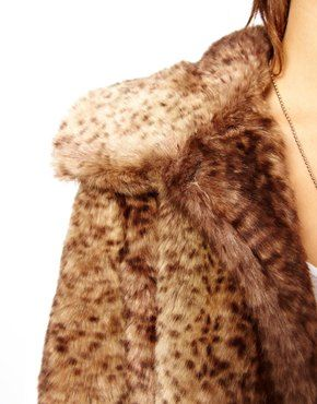Unreal Fur Vintage Style Leopard Long Coat