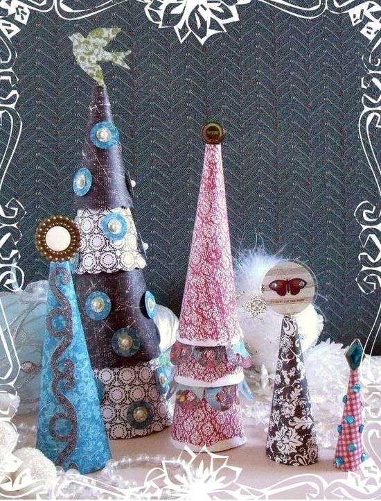 #Tutorial: Paper #Christmas Trees - ideasforho.me/... -  #home decor #design #home decor ideas #living room #bedroom #kitchen #bathroom #interior ideas