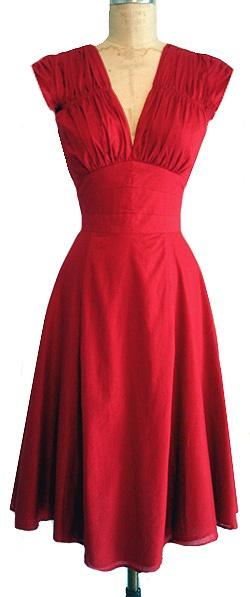 Vintage 1940s red dress