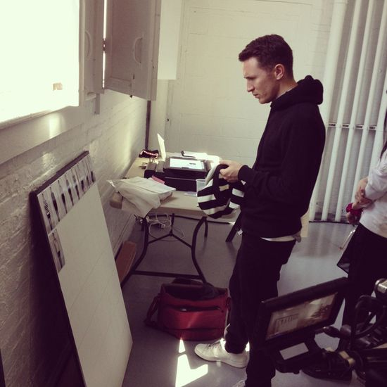 Reviewing looks at the photo shoot. #CatherineForKohls #DesigNation #Kohls