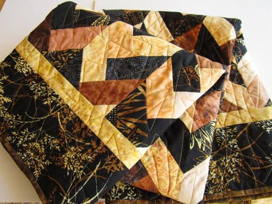 Earth Tones Handmade Quilt