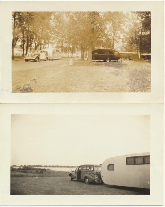 Early Ford Woody Panel 1937 Travel Trailer