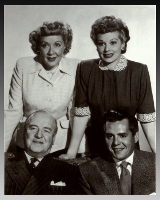 I Love Lucy, 1951-57.....One of television's first major hits was also one of the first hit shows with a female star -- comedy legend Lucille Ball, whose interactions with hubby Ricky and the Mertzes led to hilarity and some of the most classic moments in TV history, from the grape-stomping scene and the candy factory episode to Lucy's tango with the egg-filled shirt and her Vitameatavegamin commercial.