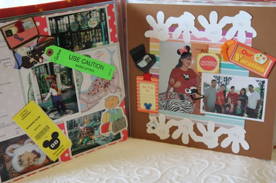 Cute inspiration for Disney scrapbook idea