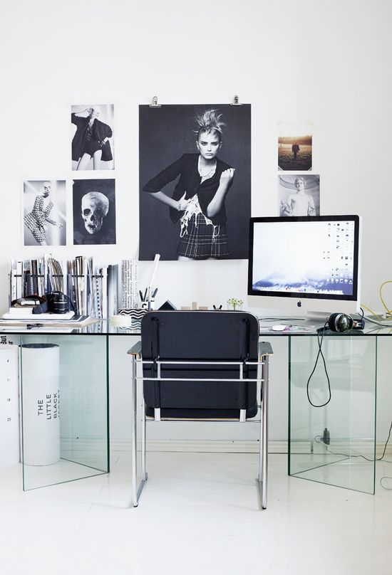 Black and White Clean Modern Office