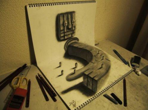 3-D Art By Japanese Artist Nagai Hideyuk