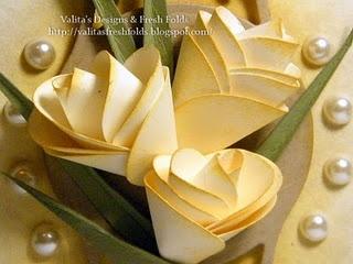 "1"" circle punch, Valita's fresh folds"