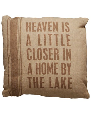 Primitives by Kathy 'Home by the Lake' Decorative Pillow