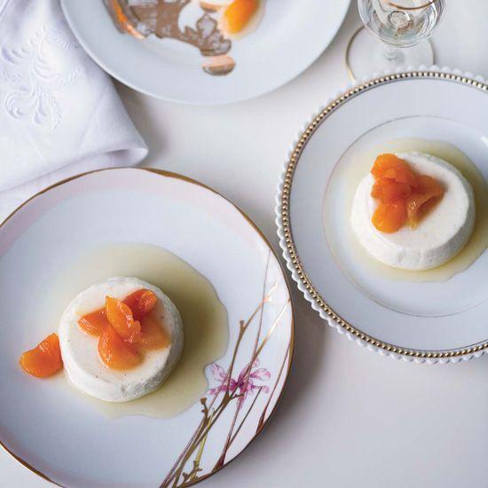 Greek Yogurt Panna Cotta with Honey-Glazed Apricots // More Yogurt Recipes: www.foodandwine.c... #foodandwine
