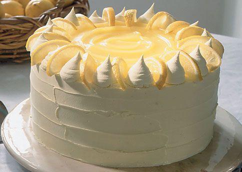 lemon curd layer cake. springtime!
