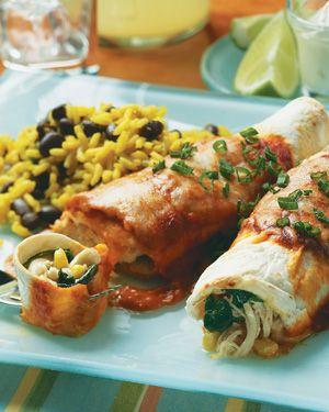 Chicken & Spinach Enchiladas