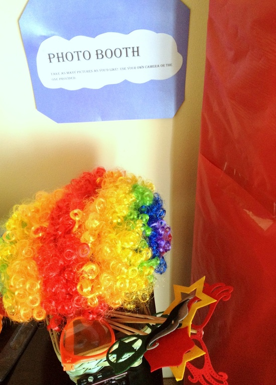 Photo booth for a carnival party
