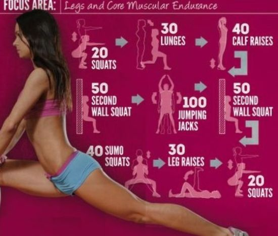 Legs--this looks like a good guide for a leg workout on the days I don't make it to the gym.