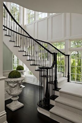 Beautiful staircase and interior detailing