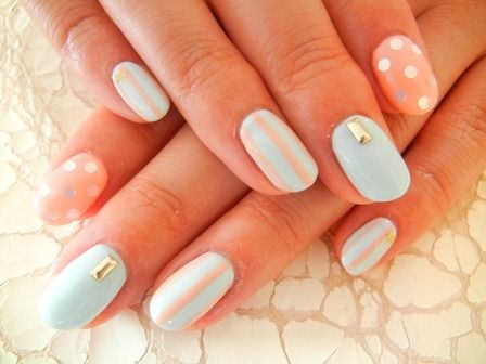 #stripes #nails #dots