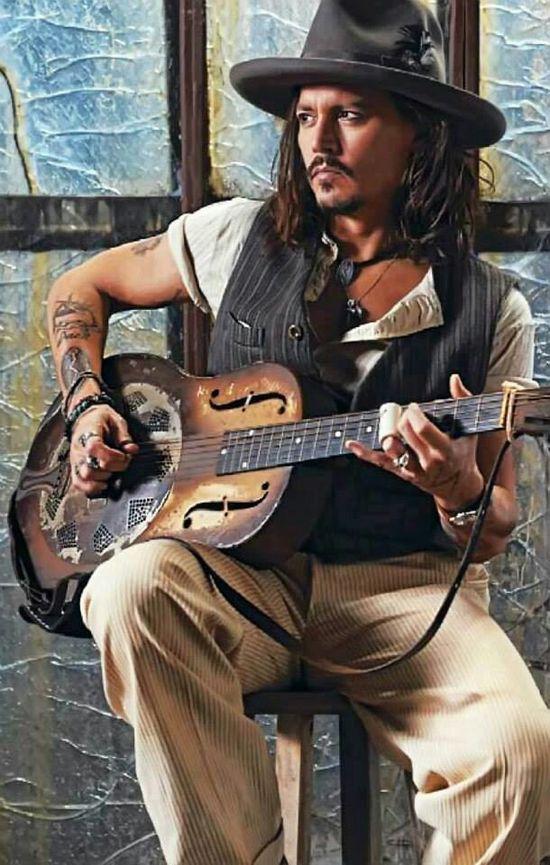 Johnny Depp and guitar
