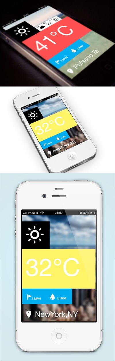 +1 weather app * by  Pietro Schirano #ui