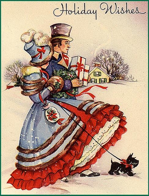Elegant holiday wishes. #vintage #cards #Christmas