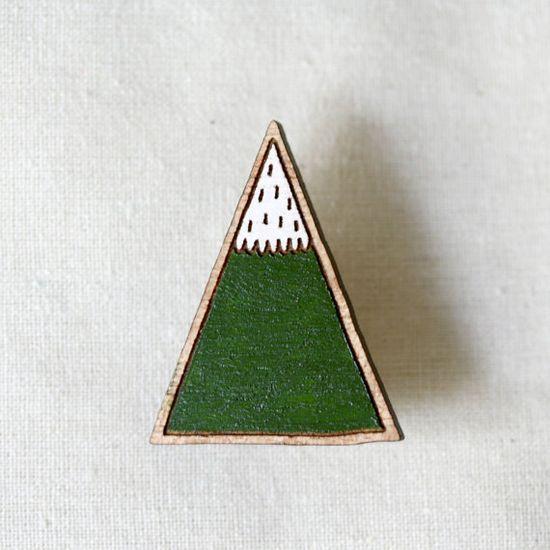 Mountain Brooch. by Pannikin on  Etsy.