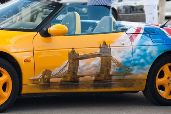 Dressy graphics drawn on the car is prob the best way to personalize it and get noticed.