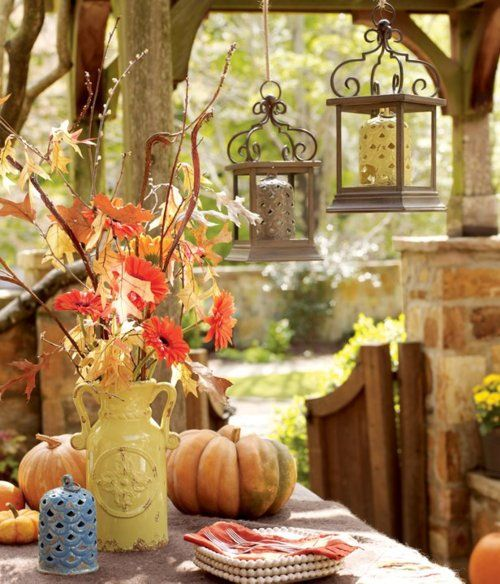 Fall on the porch...