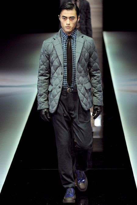 quilted jacket -- giorgio armani fall 2013