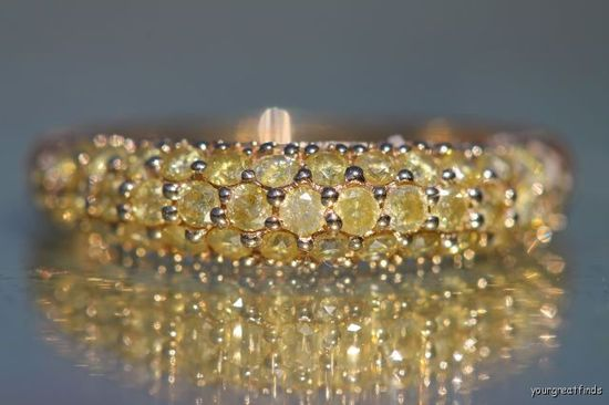 Fresh finds!!! Canary Diamond ring.