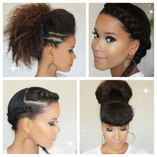 Natural Hair styles * I love the versatility of natural hair *