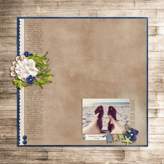 Feet #scrapbook #beach #layout #simple