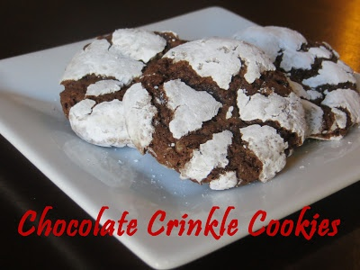 Chocolate Crinkle Cookies...one of my faves! #chocolate #desserts
